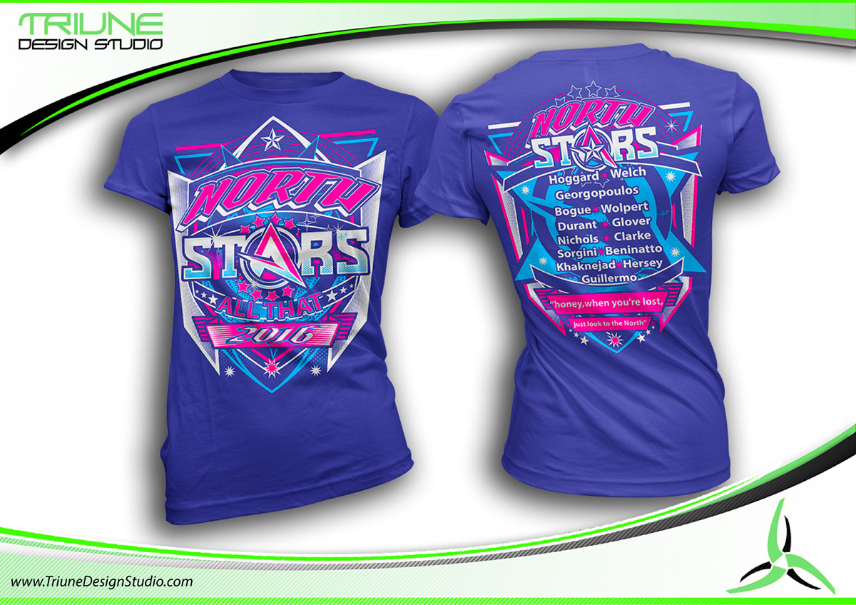 Tshirt Design For All Thatnorth Stars Cheer On Behance