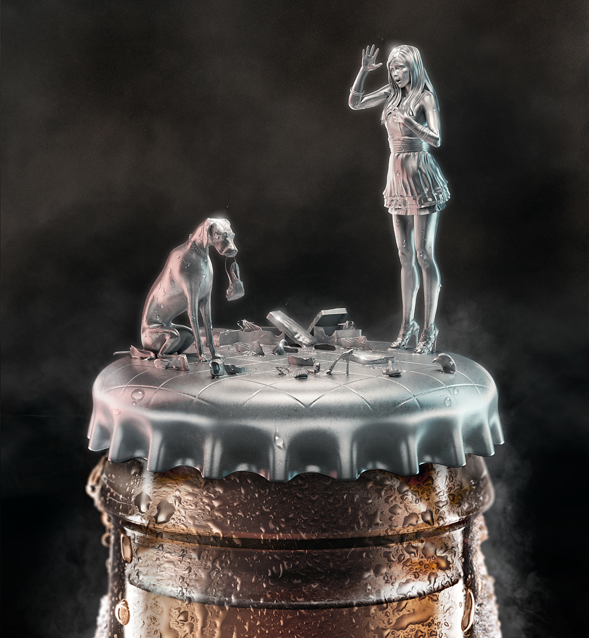 Advertising  HUÜNEN beer characters sculpting