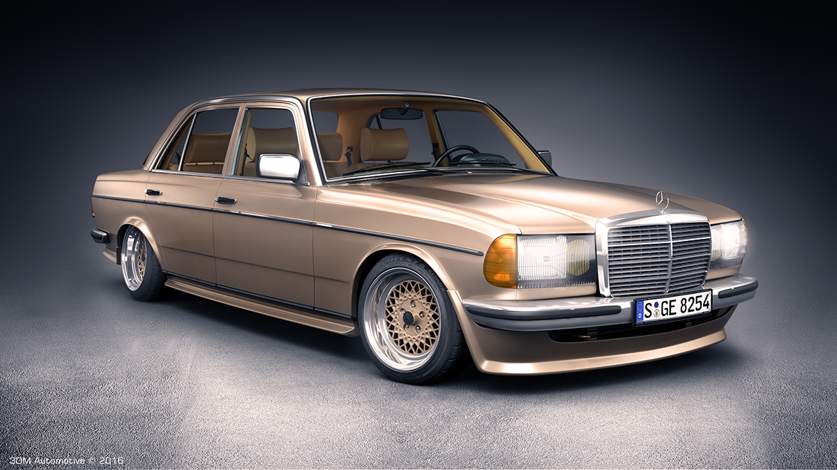 Mercedes Benz W123 280e With Amg Kit On Behance