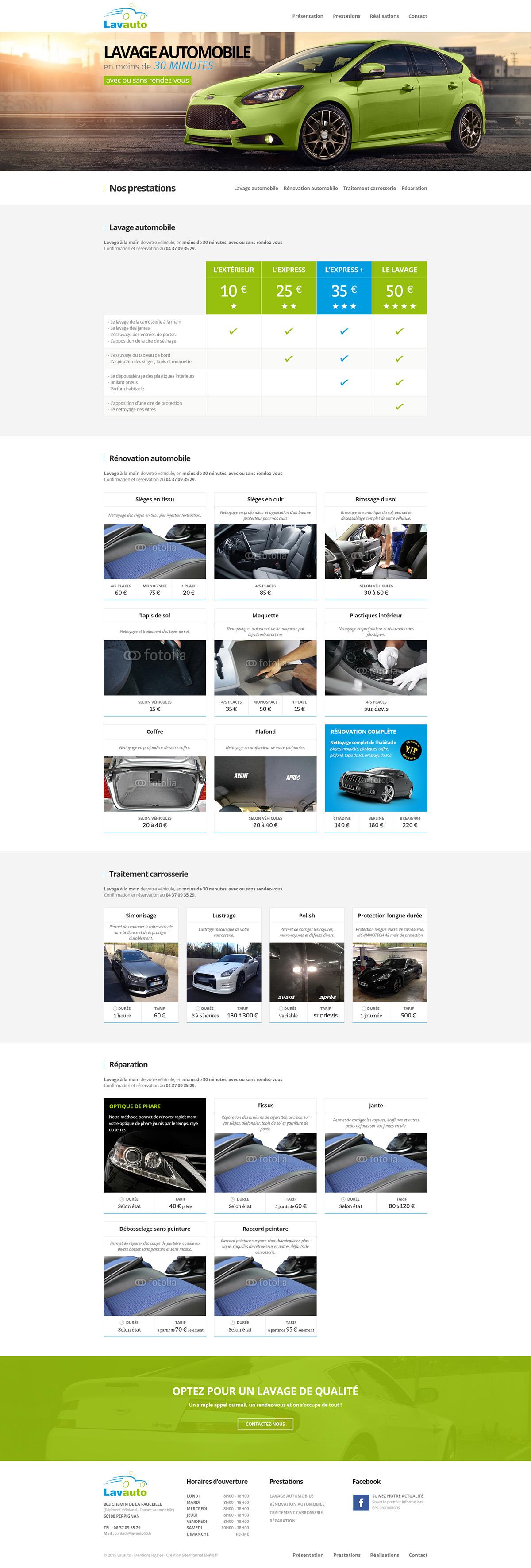 automobile Vehicle wash car Website Webdesign design