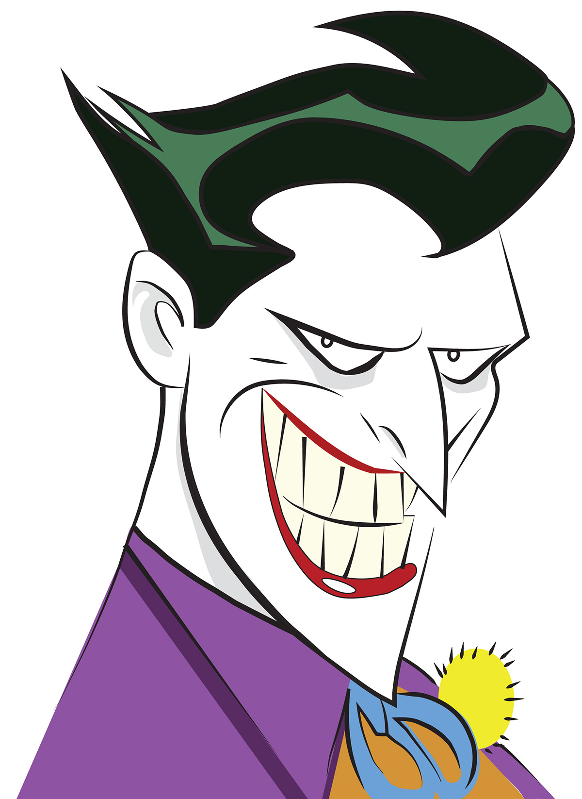The original batman animated series joker on behance thank you voltagebd Images