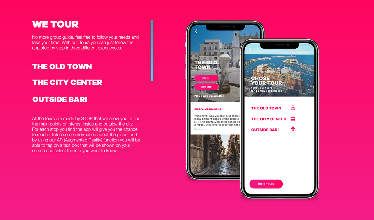 WeBari Travel App // Personal Project 2018 on Wacom Gallery