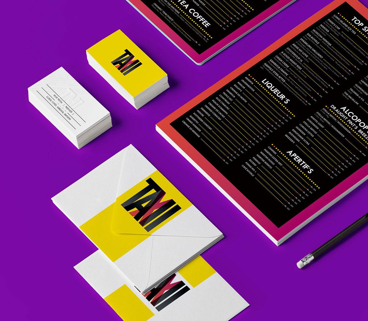 menu bar and kitchen logo branding  Identity Design restaurant