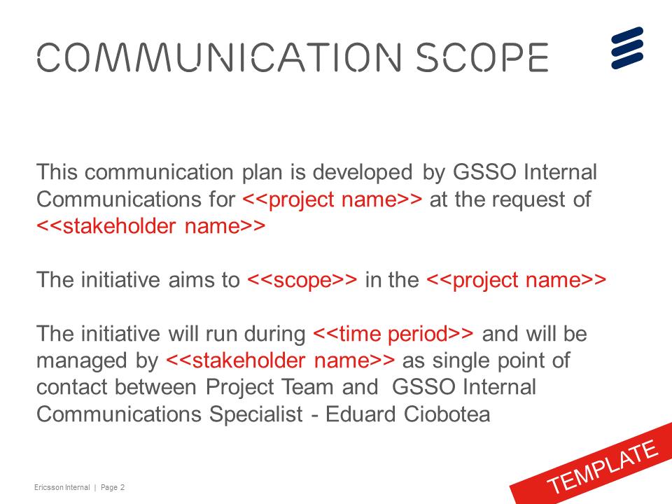 Poject Internal Communication Strategy Template On Behance