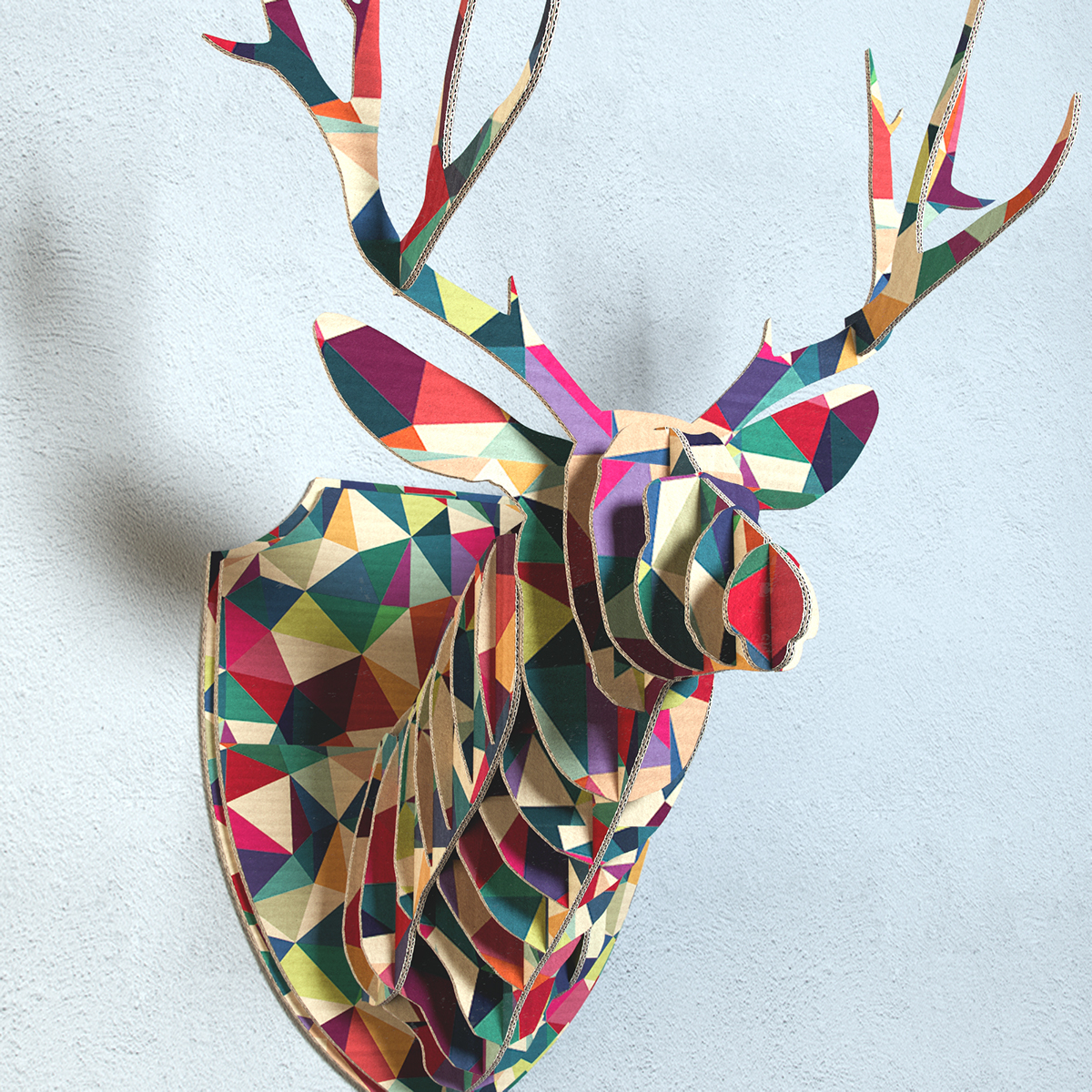 Cardboard Deer Head On Behance