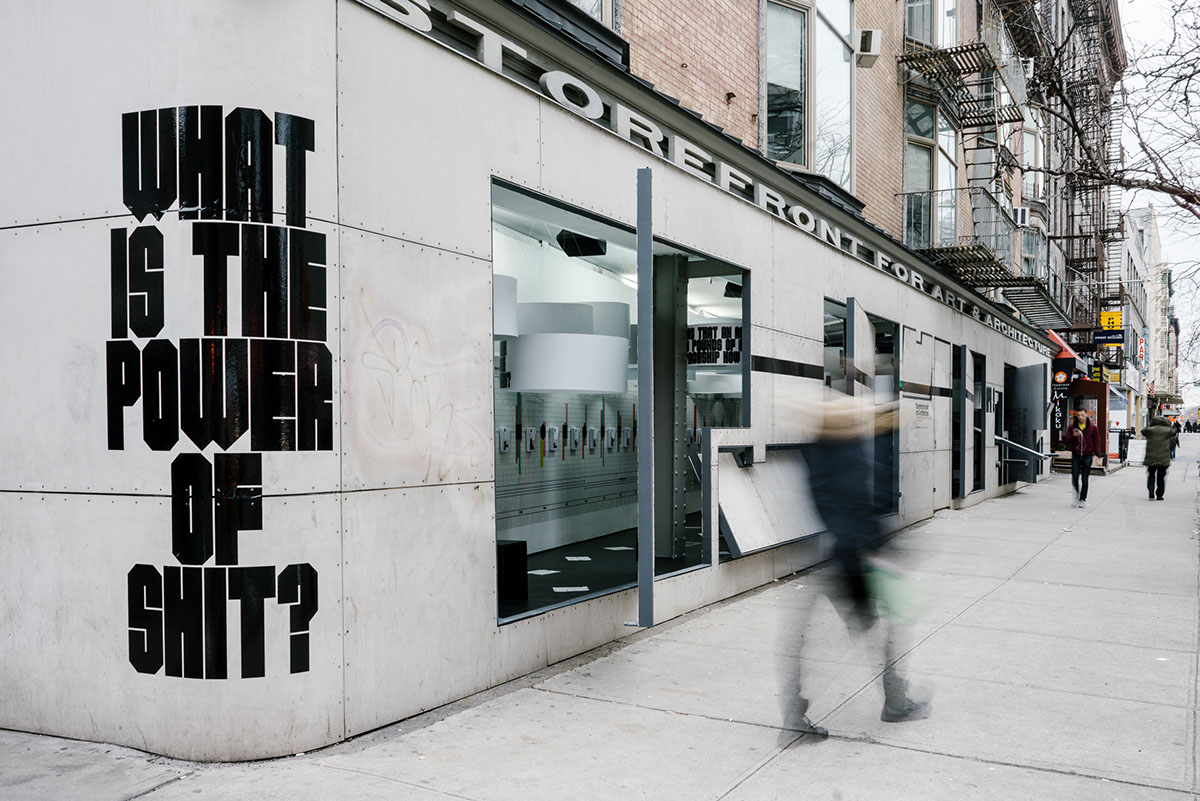 Exhibition  custom typeface closed worlds Storefront for art and architecture identity publication design