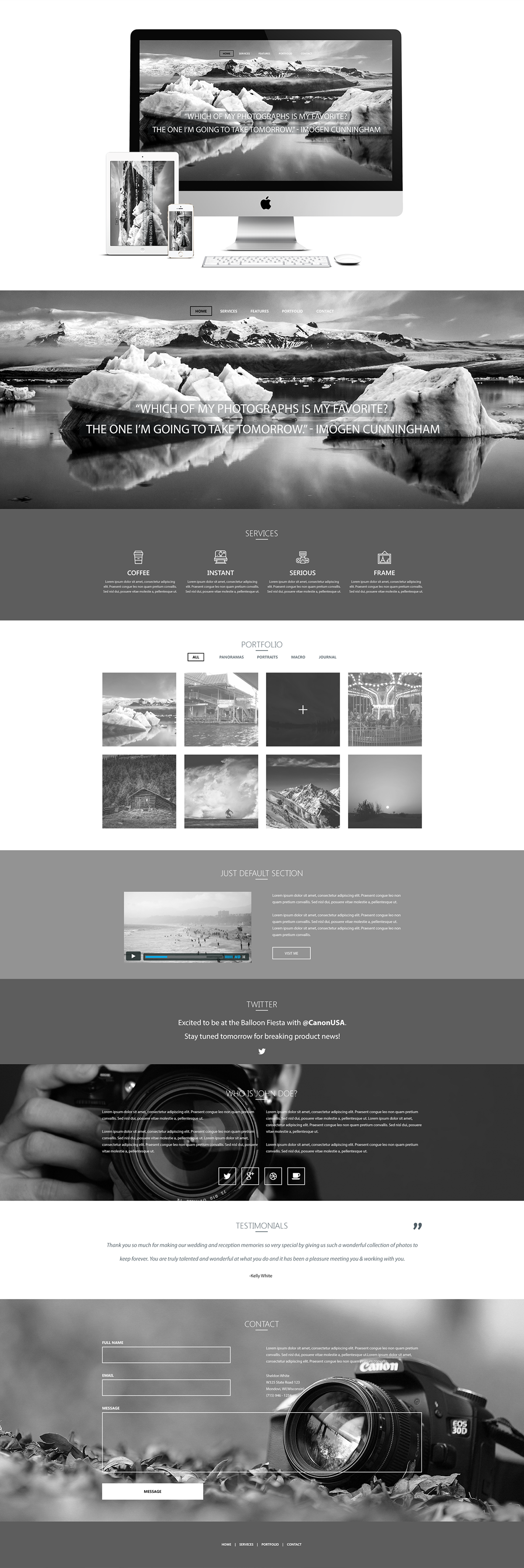Parallax Photography Website Concept on Behance
