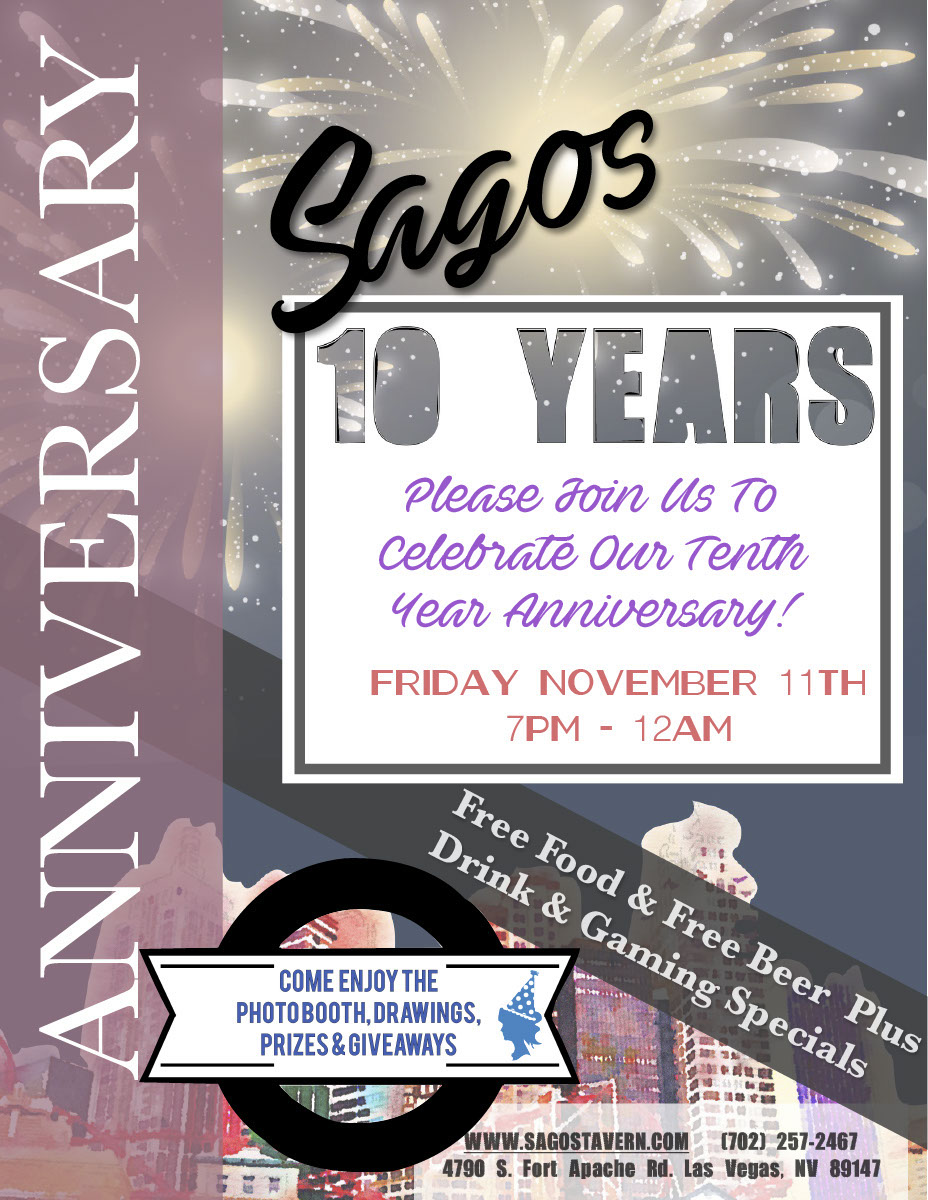 Sagos bar 10 year anniversary invitation flyer on behance stopboris Gallery