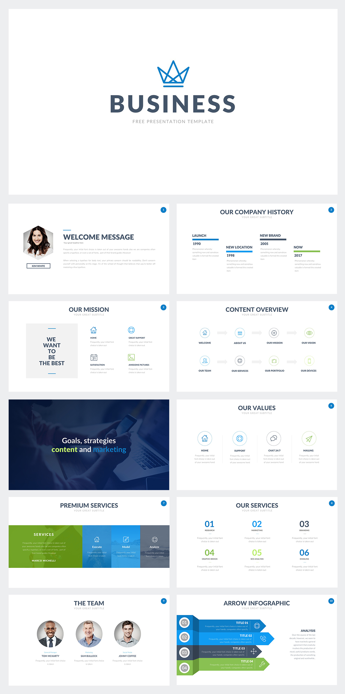 Free business powerpoint template on behance free business powerpoint template here flashek Image collections