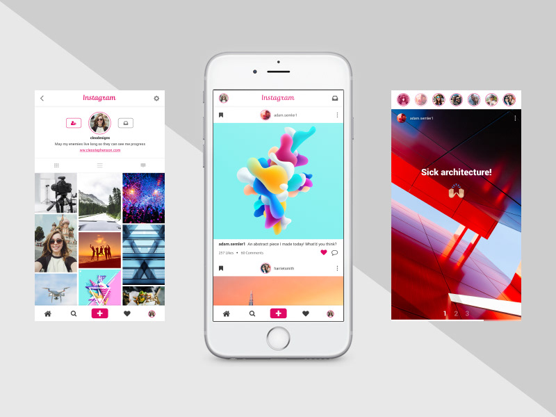 12 Amazing Instagram UI Designs for Inspiration on Behance