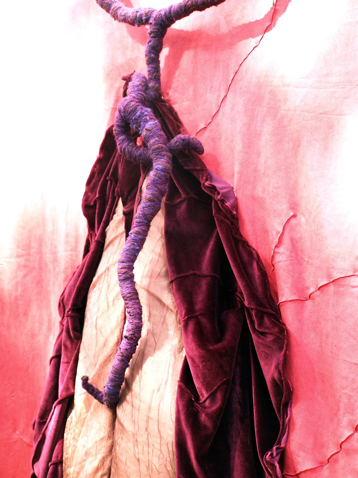 experimental textil art interactive art feminine