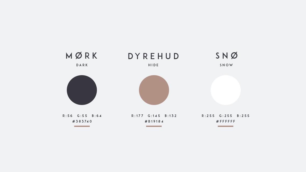 norwegian norske identity brand minimal clean modern Scandinavian winter