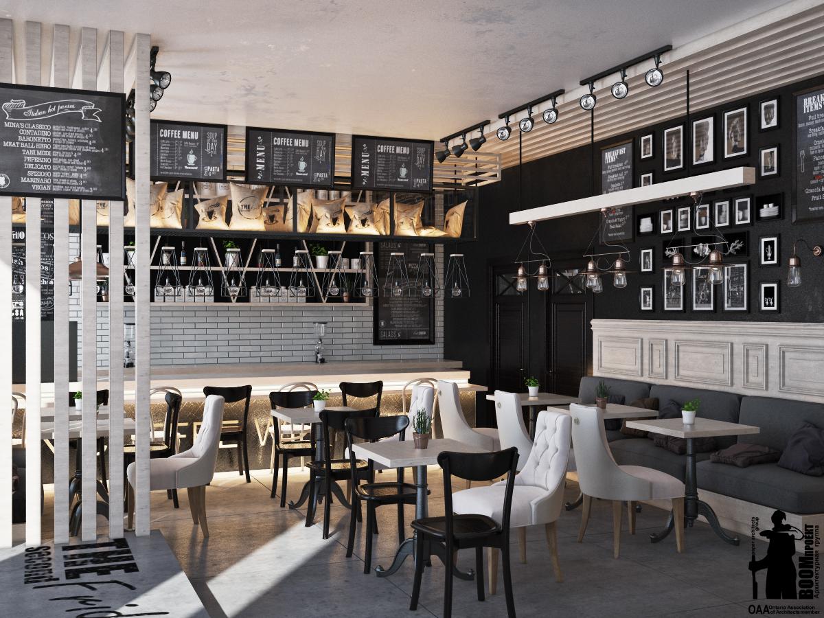 Loft cafe in odessa on behance