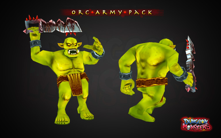 3D lowpoly gameart game orc creature
