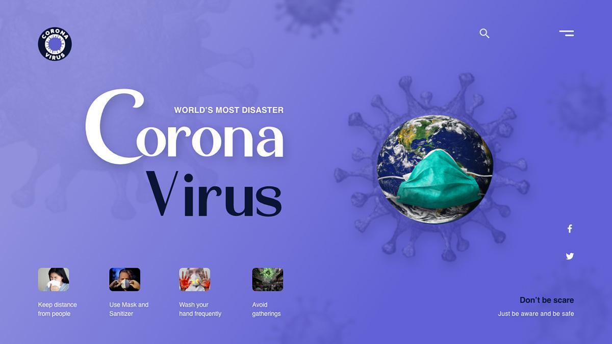 Clean UI designer designs dribbble landing page Logo Designs ui designs UX Designs web designs world virus