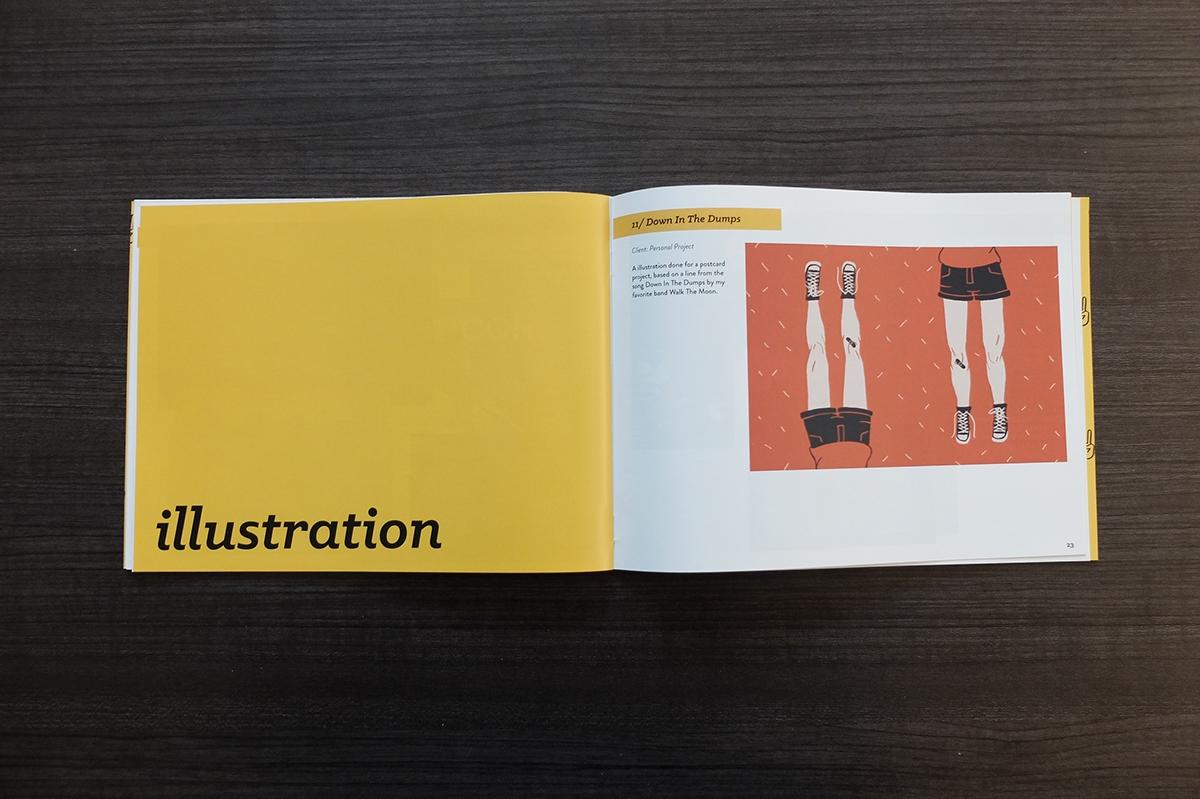 Adobe Portfolio katsy garcia personal designer Illustrator calling card portfolio letter Website