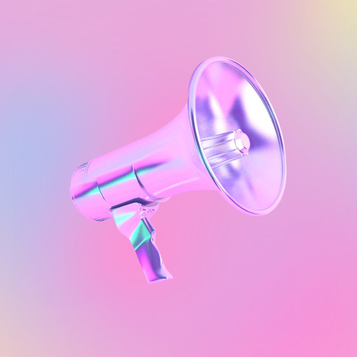 ILLUSTRATION  3D cinema 4d holographic lips funky Fun pink graphic design  gradient