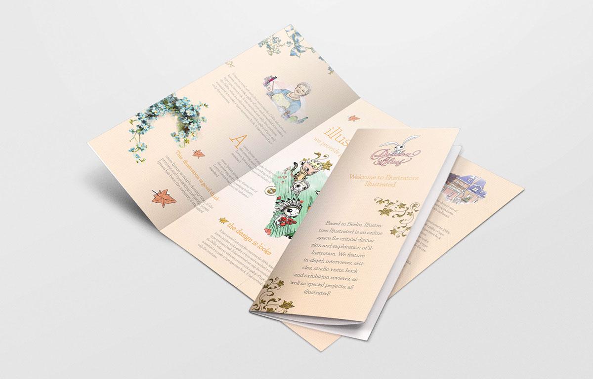 creative tri fold brochure free download on behance