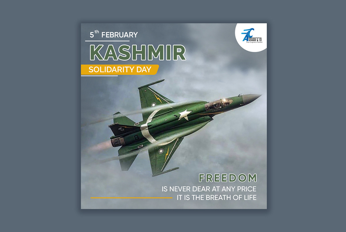 15 feb Aircraft armyday freedom Kashmir day marketing post Pakistan post Solidarity day nabs group