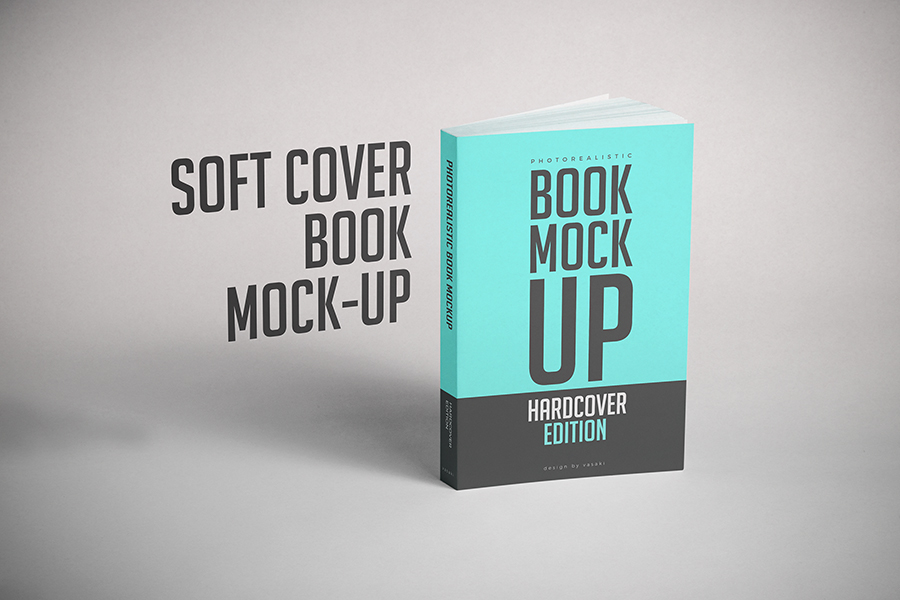 softcover book mock up psd on behance