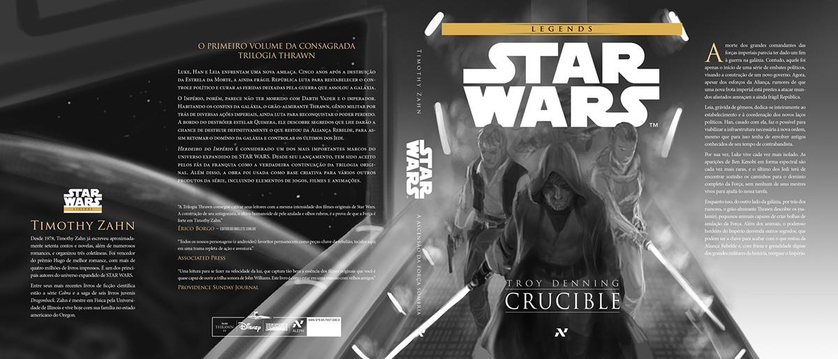 star wars Star Wars Crucible Star Wars Provação Editora Aleph Lucasfilm book cover book cover cover illustration