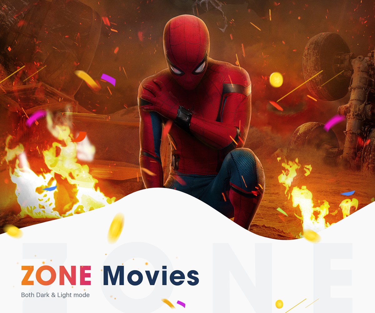 NEW - ZONE Movies - Light mode - iOS UI KIT on Student Show