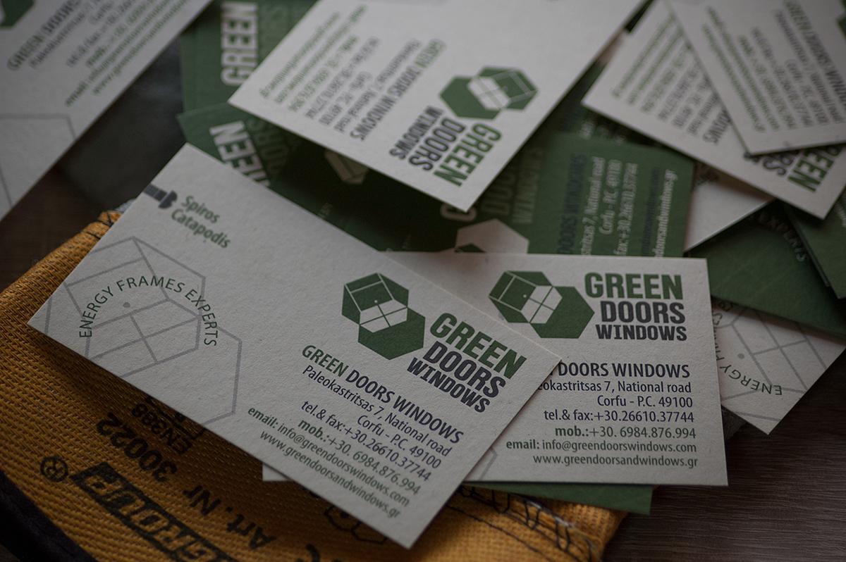 Green Doors & Windows (Logo & Branding) on Behance