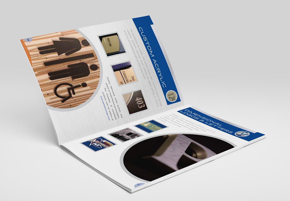 Brochure design concept for Missouri Sign Maker