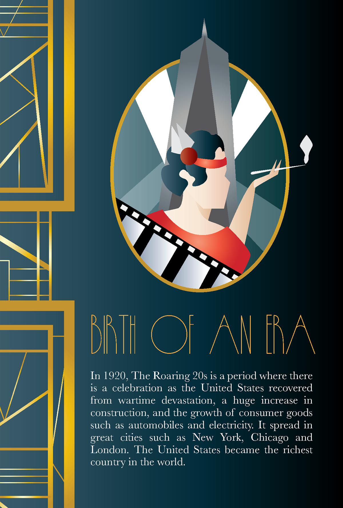 Roaring 20s (Birth To Death Invitations Project) on Behance