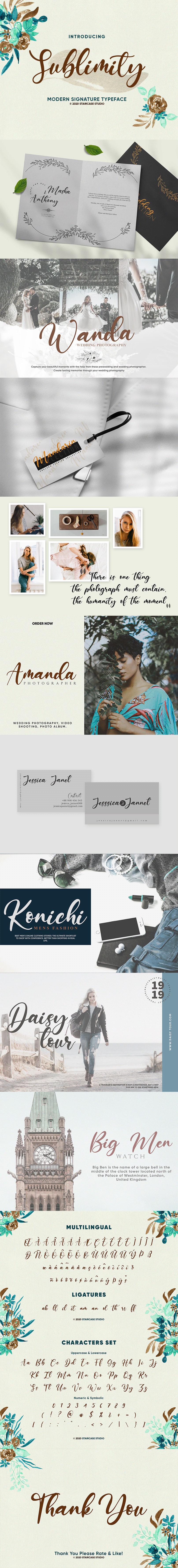 Birthday branding  font fonts Invitation modern Script signature Sublimity wedding