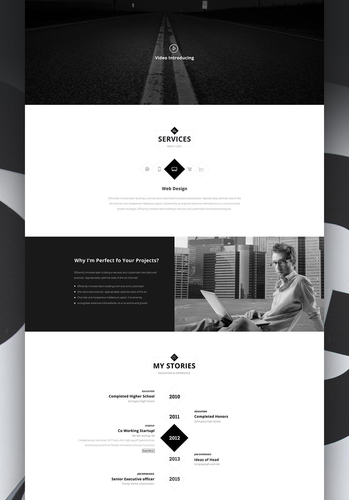 personex creative person s web resume portfolio on