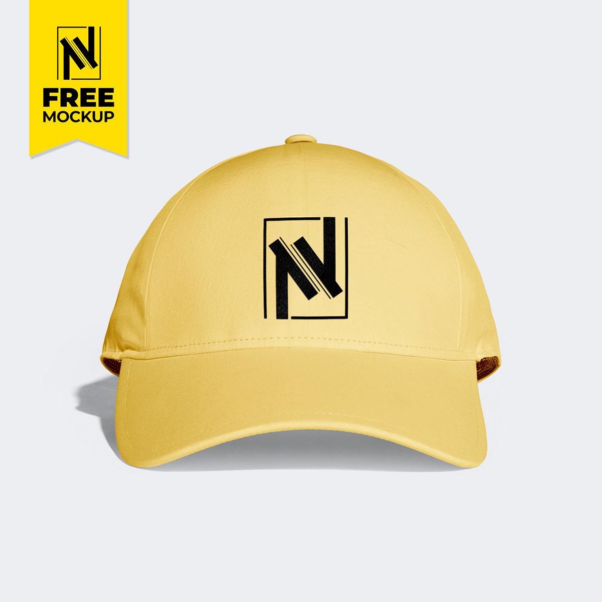 cap free Mockup graphic Nabil Al-Nemer mockups