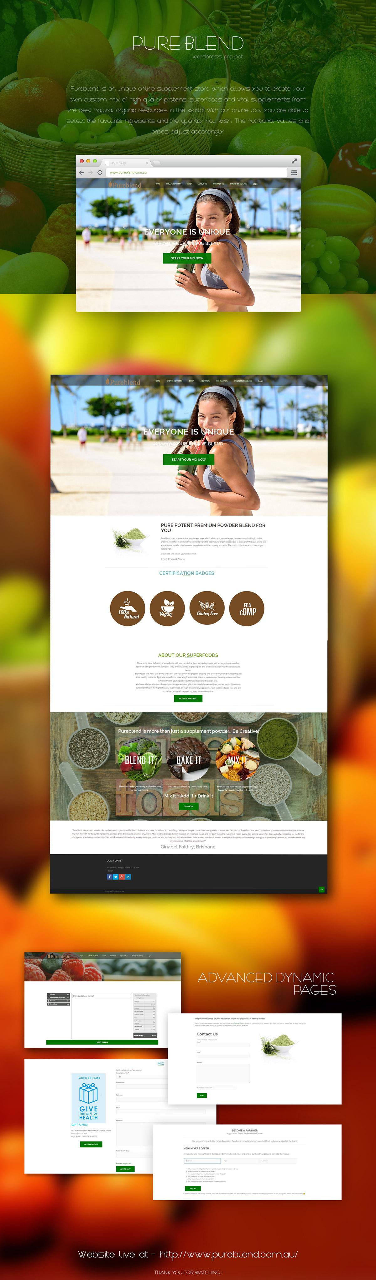 Pure Blend :wordpress website design