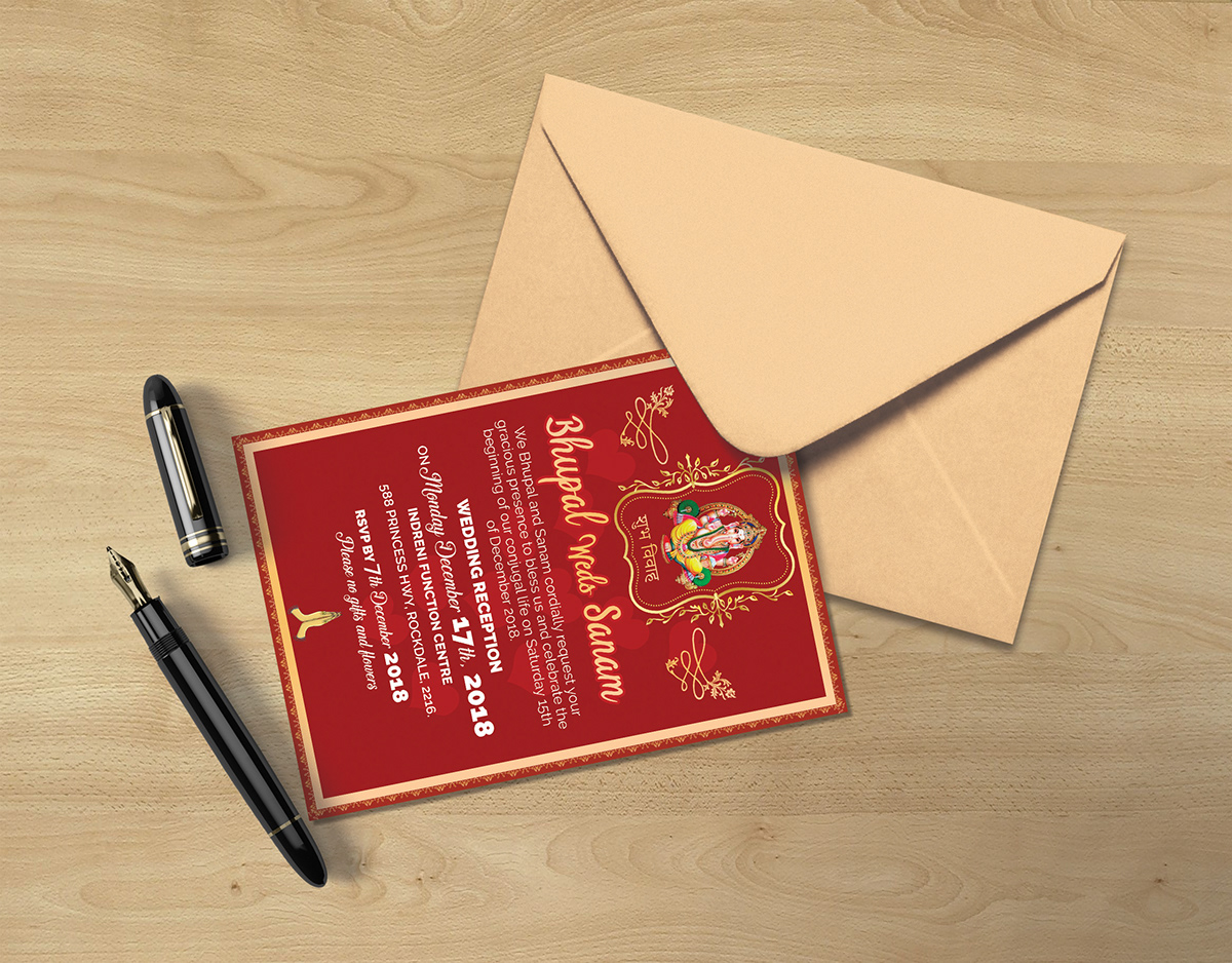 Rsvp Wedding Invitation Card Template Indian Style On Student Show