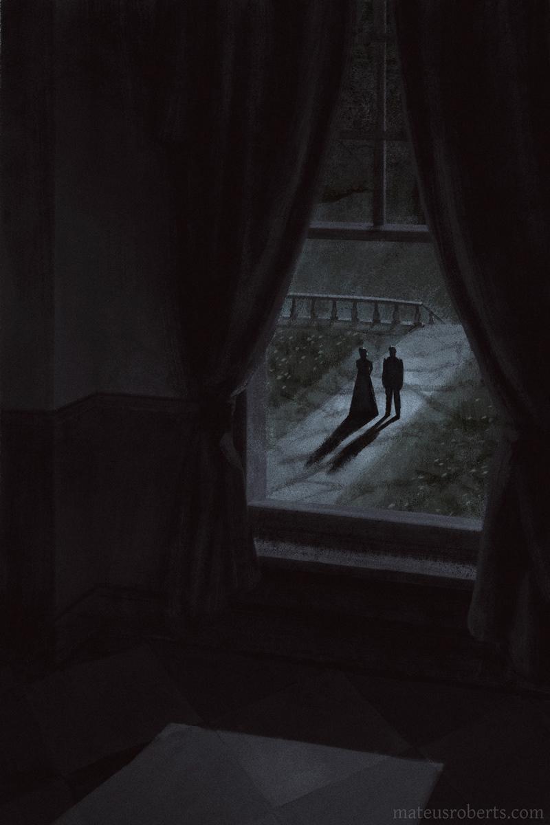 book cover creepy dark horror ILLUSTRATION  spooky