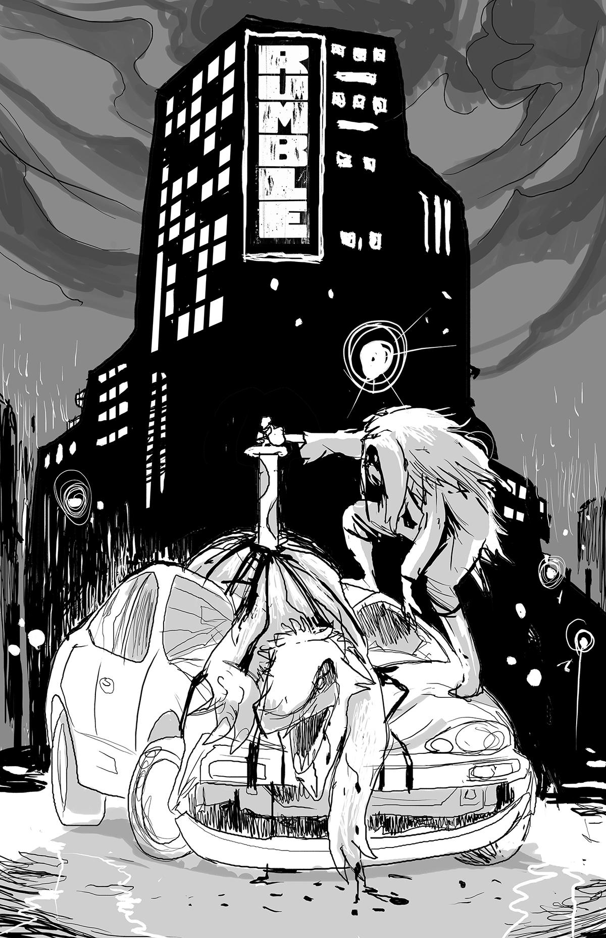 john arcudi james harren comicbook image Image Comics Rumble roc espinet citty monster car