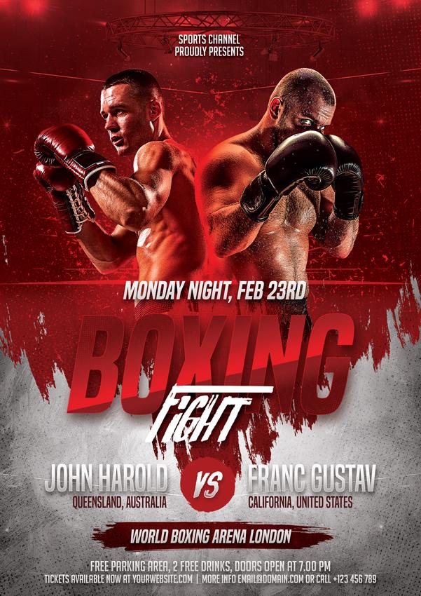 Boxing Flyer Template Kleo Bergdorfbib Co