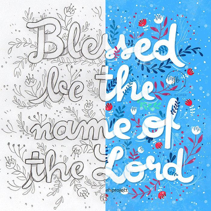 Psalm 113:2 - Sketch + Illustration