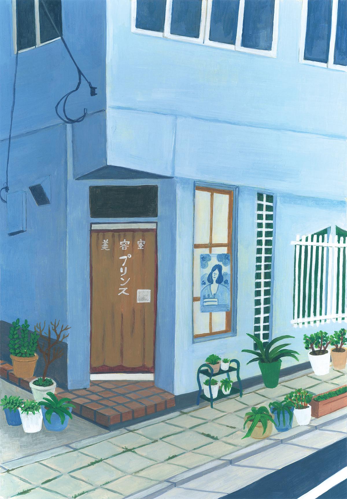 ILLUSTRATION  Drowing painting   Landscape acrylic tokyo japan