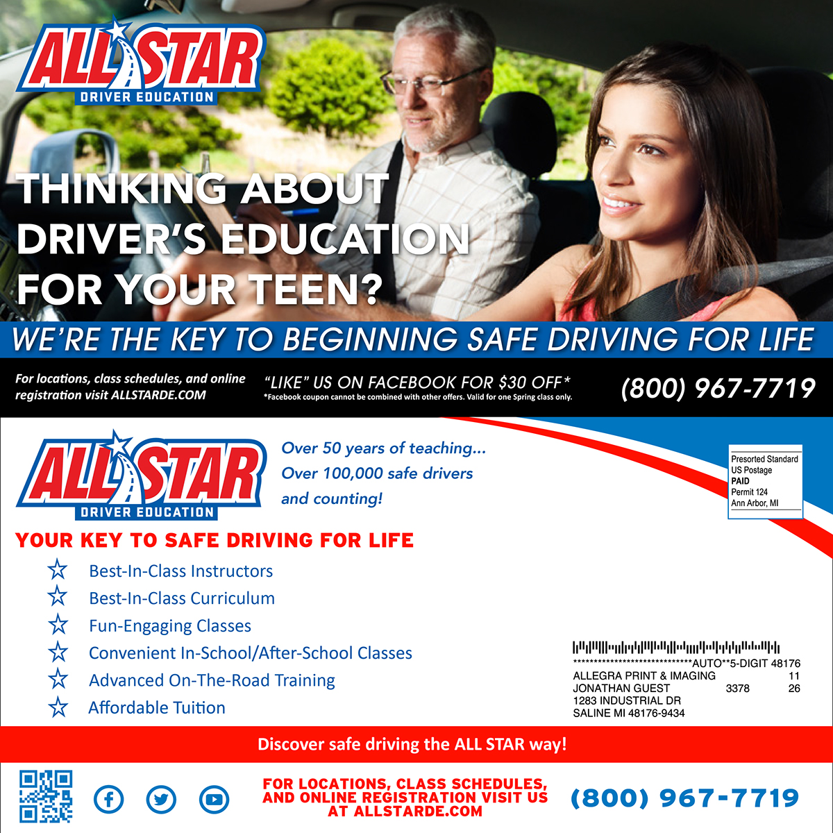 All Star Driver Education >> All Star Driver Education Postcards On Behance