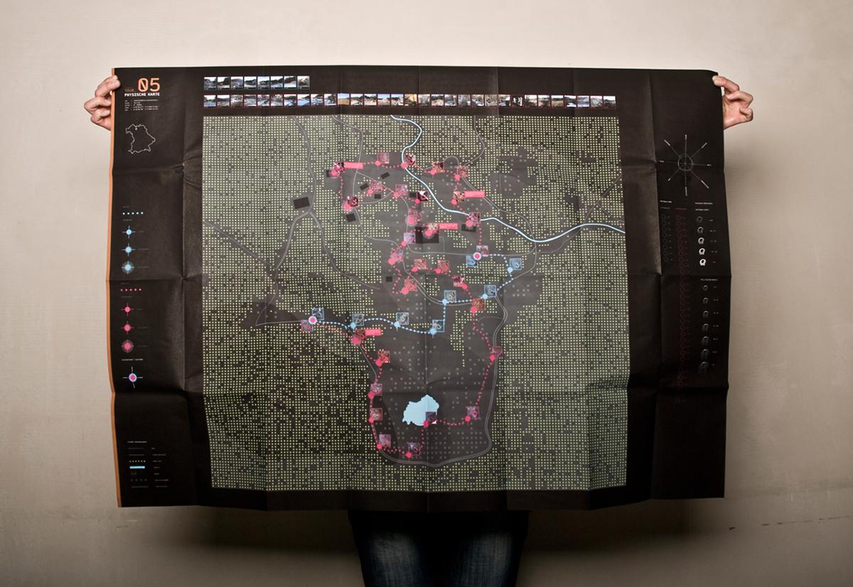 map tour DETOUR physical map infographic