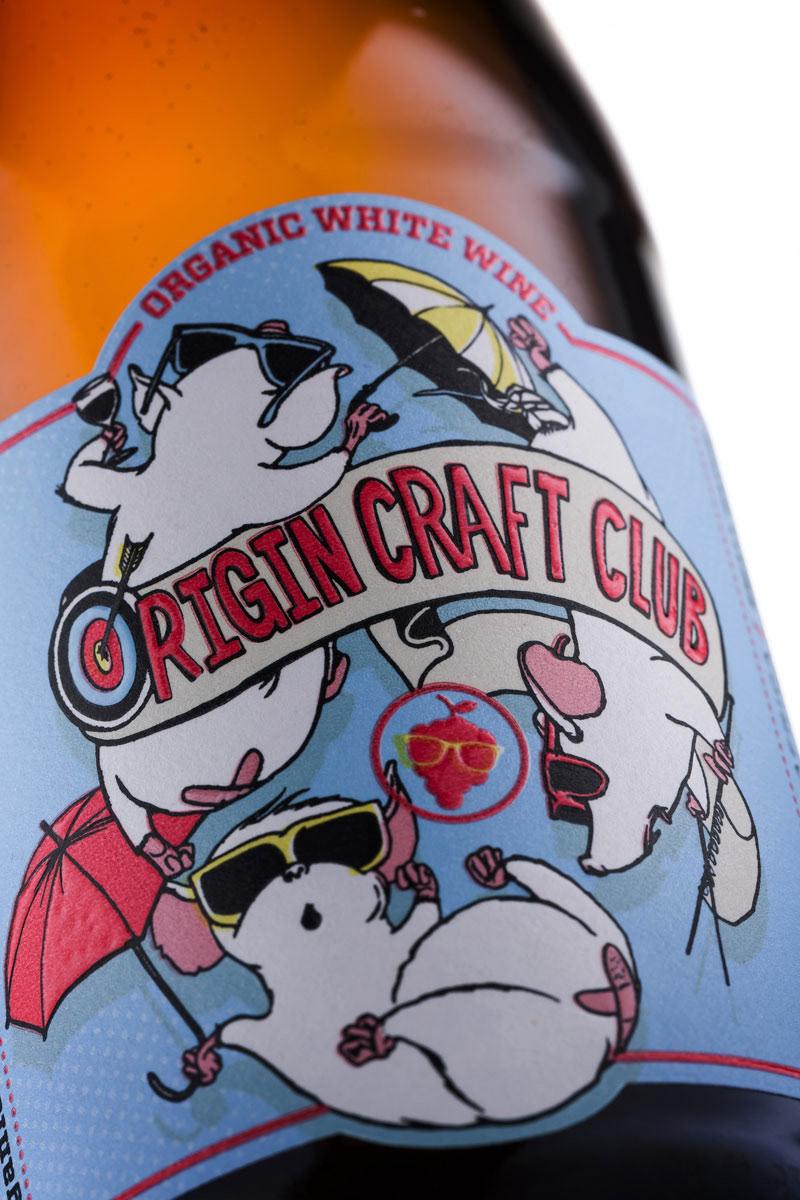 Wine Packaging packaging design Origin Craft Club graphic design  ILLUSTRATION