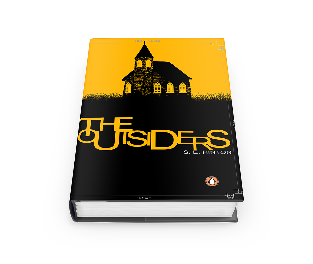 Book Cover Design Png : The outsiders book cover design penguin books on behance