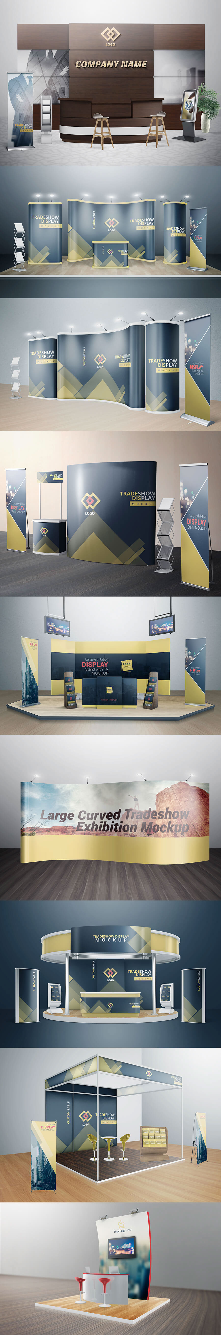 Exhibition Booth Mockup : Various tradeshow exhibition booth mockups on behance