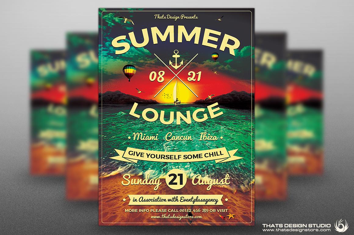 Lounge Flyer Template | Summer Lounge Flyer Template V3 On Behance