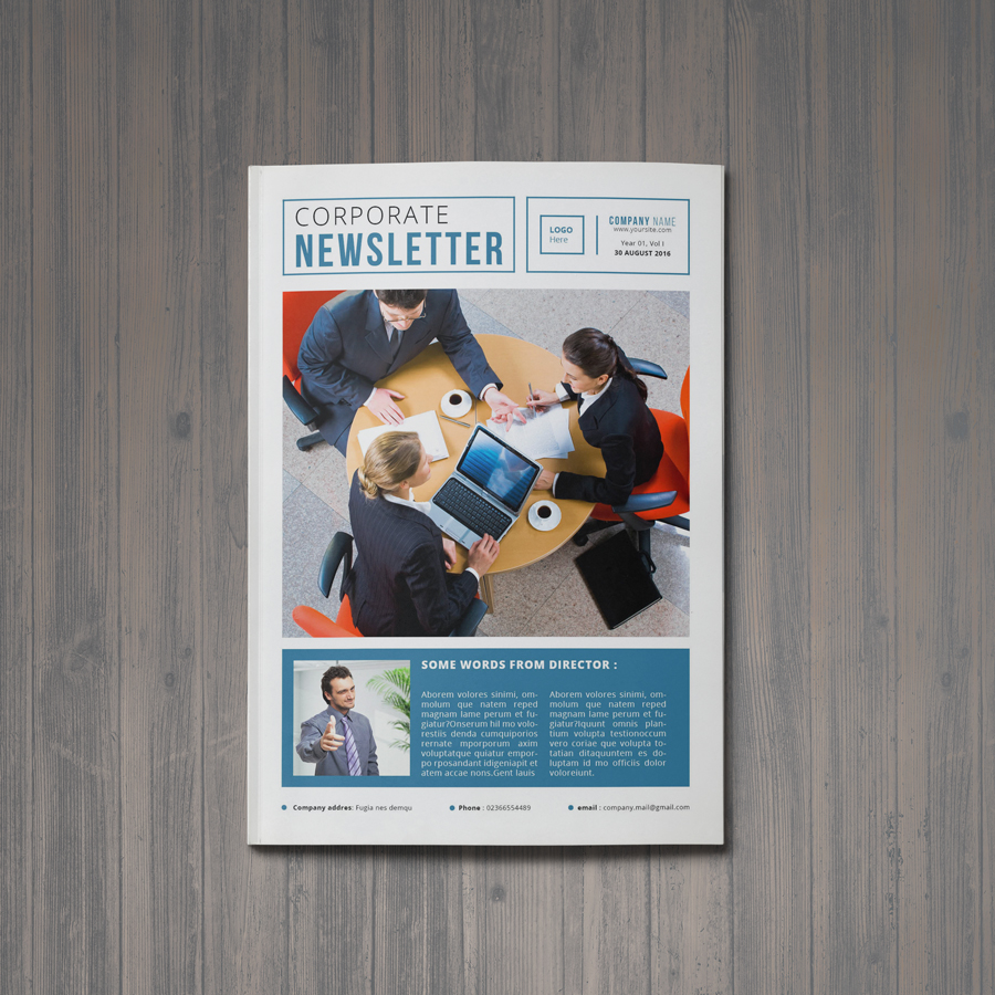 Free A4 Corporate Newsletter Template on Behance