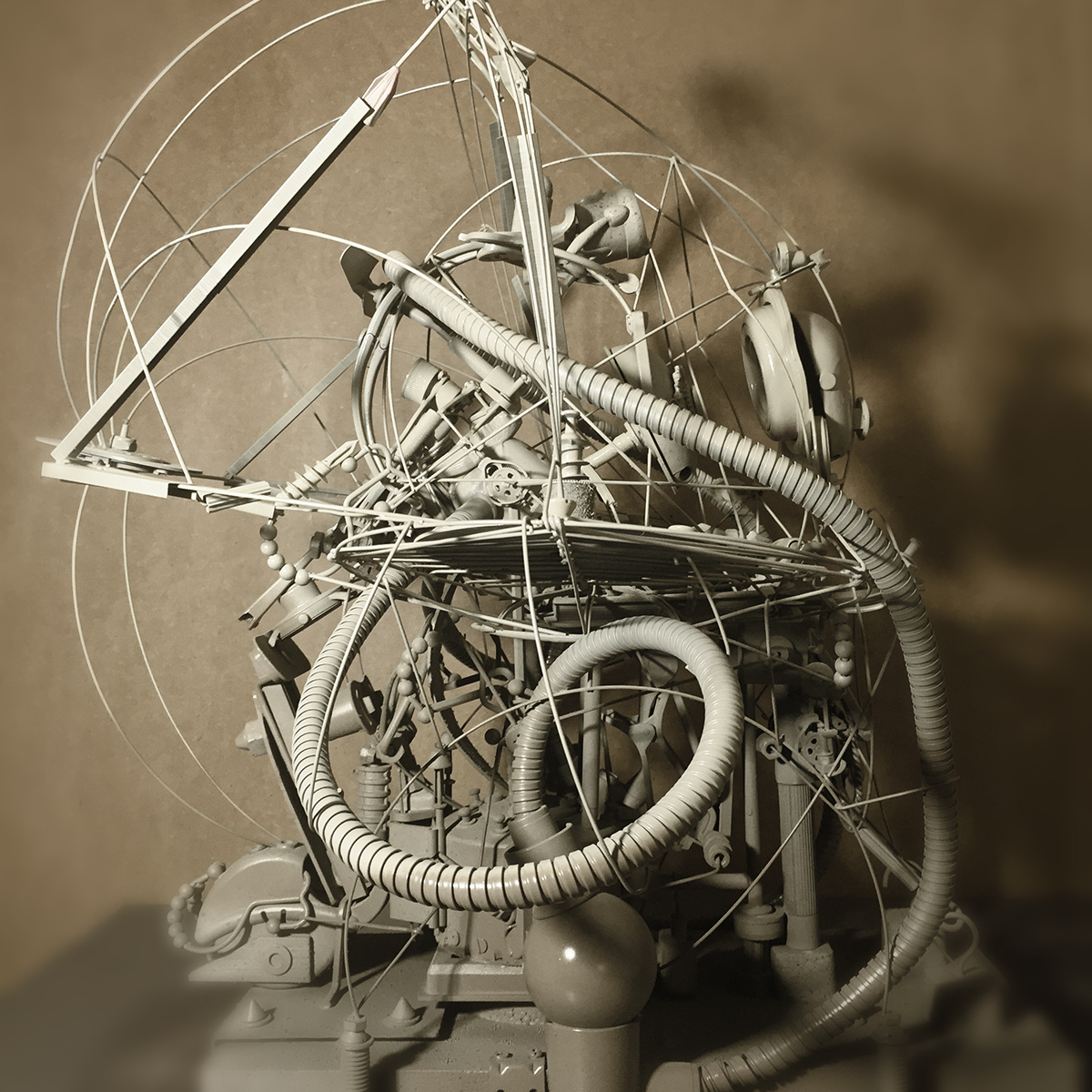 Cocoon Assemblage Art sculpture STEAMPUNK retro-futurism intricate Samuel Gomez samuelgomezart