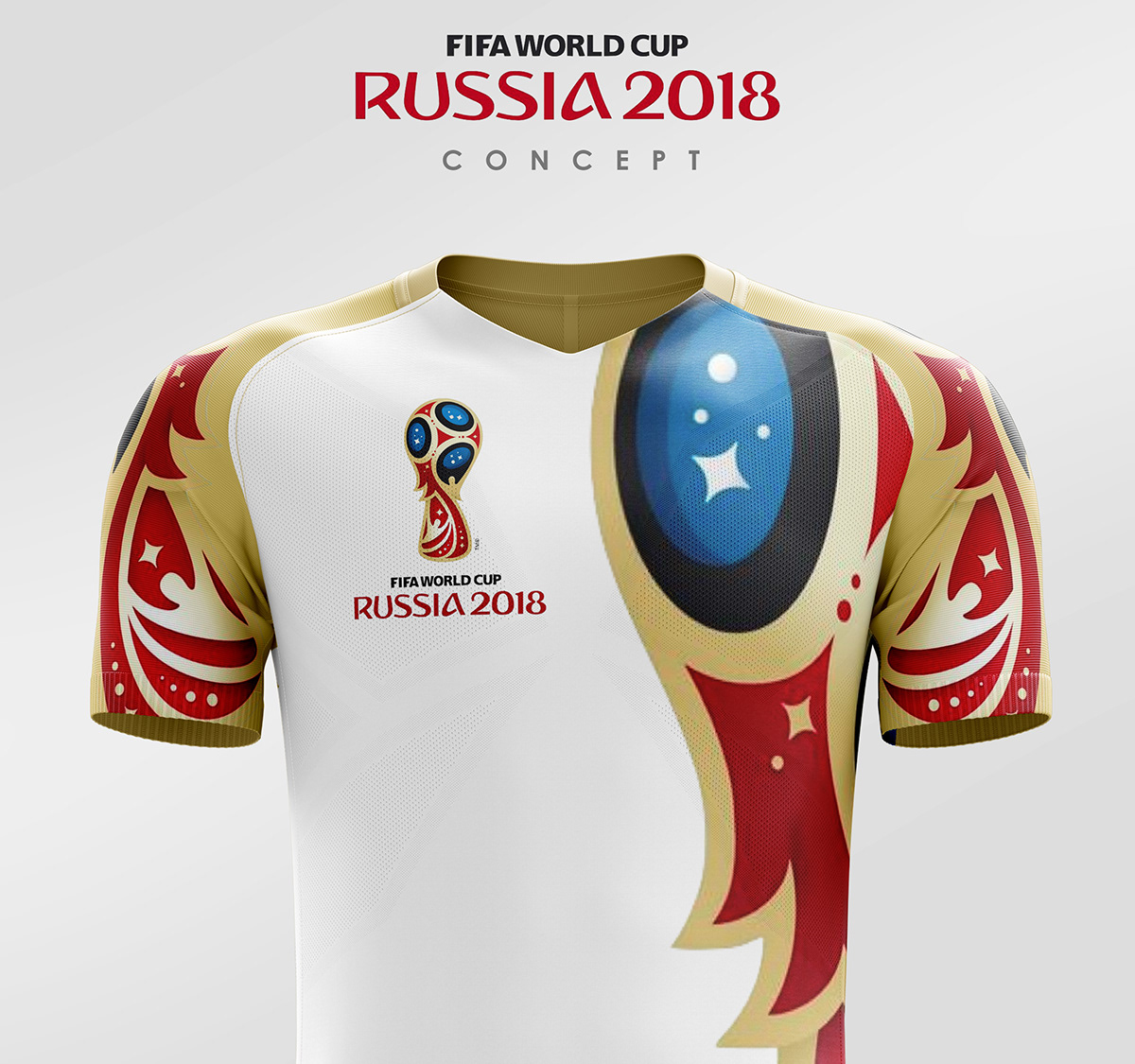 Fifa world cup Russia 2018 soccer kit concept on Behance b2f89e478
