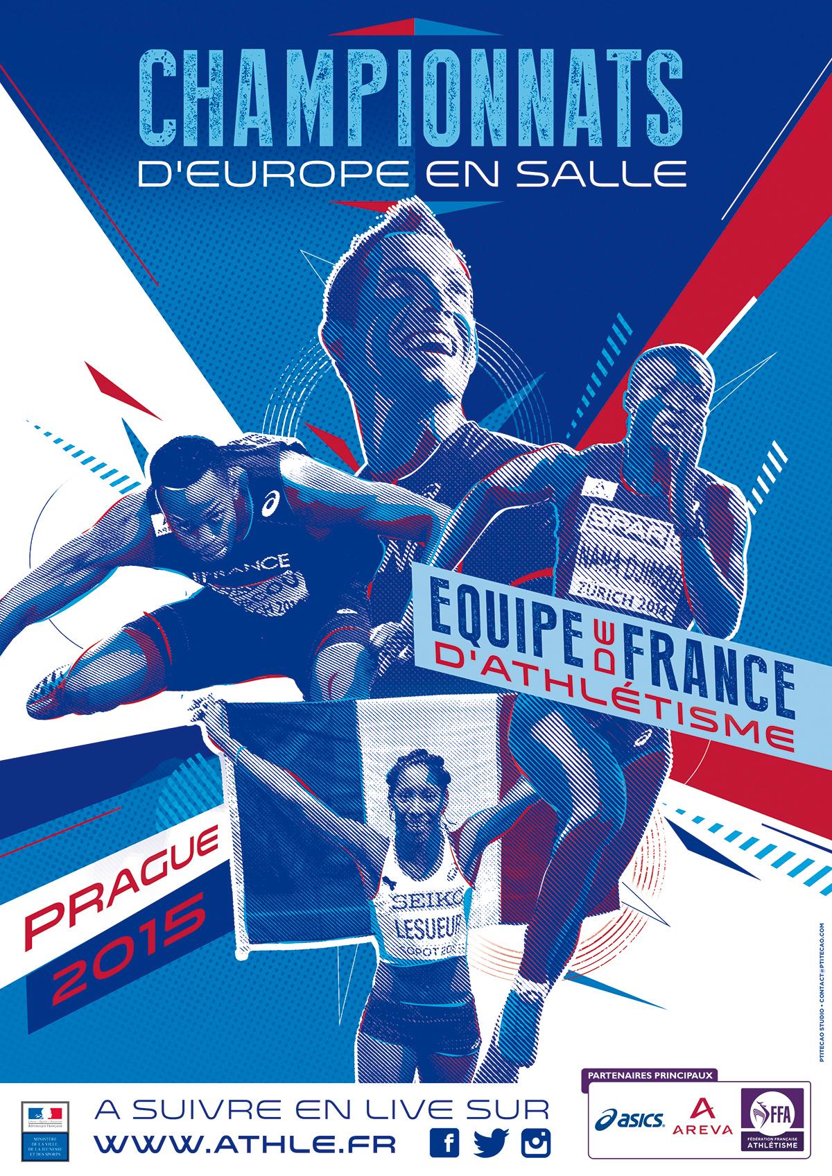 athletics poster events ffa on behance. Black Bedroom Furniture Sets. Home Design Ideas
