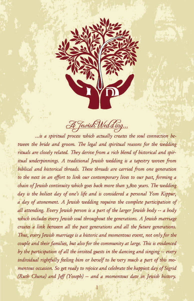 This is an example of a graphic design project I completed for a wedding invitation insert